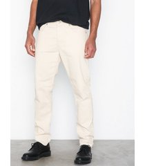 selected homme slhtapered-toby 6117 cream st jeans jeans vit