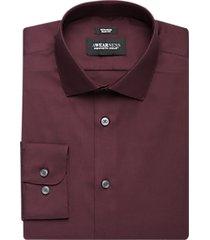 awearness kenneth cole burgundy slim fit dress shirt