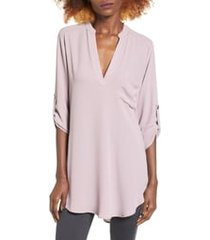 women's all in favor perfect henley tunic, size xx-large - grey