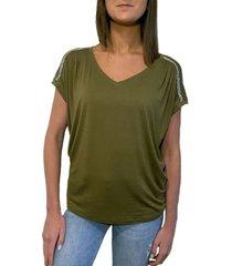 pallete women's embellished shoulder tee