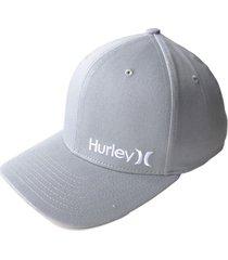 gorra hurley m hrly corp hat s/m-gris claro