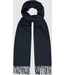 reiss ashton - lambswool cashmere blend scarf in navy, mens