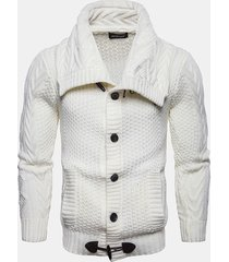 maglione traspirante pulsanti traspirante flessibile per uomo
