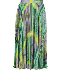 versace green and lilac skirt