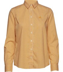 the broadcloth gingham shirt overhemd met lange mouwen geel gant