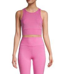 nanette lepore women's cutout-back sports bra - super pink - size xl