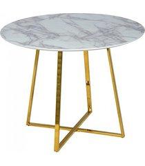 stół na złotej podstawie marble