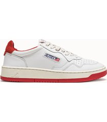 sneakers autry 01 colore bianco rosso