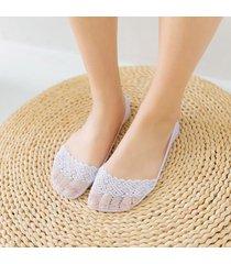 calze antiscivolo in cotone invisibili fodera elasticizzate in cotone elasticizzato per donne