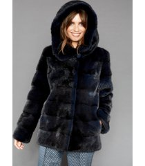 the fur vault hooded mink fur jacket