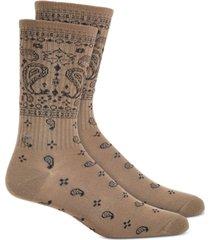 sun + stone men's gray bandana socks