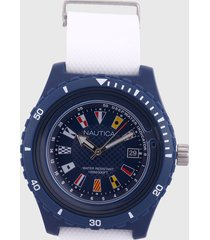 reloj azul navy-blanco nautica