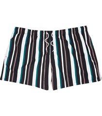 river island mens big and tall black stripe swim shorts