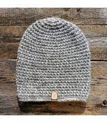 czapka 65% wełna 35% alpaka #szary #biały