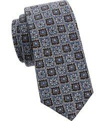 medallion wool & silk-blend tie