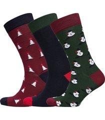 g sock bb x-mas-tree xmas-box 3p underwear socks regular socks multi/mönstrad björn borg