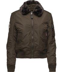sdr winter flite jacket bomberjacka grön superdry