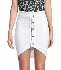 rta women's blaine high-low skirt - optic white - size 0