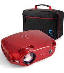 mini proyector led crenova/ ragu xpe498 + maletín portable