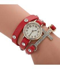 reloj rojo sasmon re-18602
