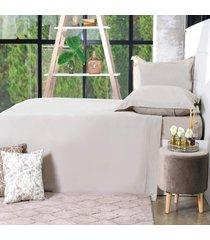 jogo de cama 200 fios queen 100% algodão pentado extra macio glamour - bene casa