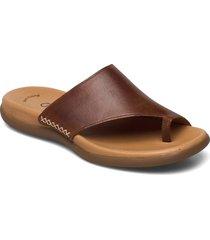 pantolette shoes summer shoes flat sandals brun gabor