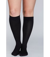 lane bryant women's compression socks onesz black