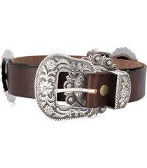jessie western star plate buckle belt - brown