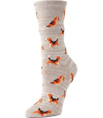 memoi beagle women's novelty socks