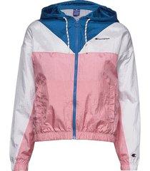 hooded full zip sweatshirt sommarjacka tunn jacka rosa champion