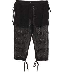 ann demeulemeester cropped pants