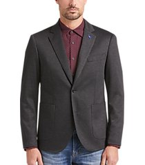 tailorbyrd charcoal tic slim fit sport coat