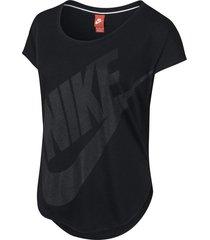 camiseta dama nike 638996-010 negro