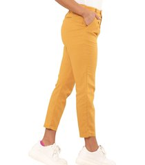 pantalon lino zaragoza amarillo ragged pf11310634