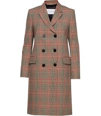 fitted double breasted coat yllerock rock brun calvin klein
