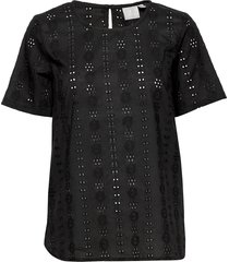 blouse-woven blouses short-sleeved svart brandtex