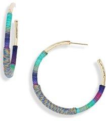 women's kendra scott masie hoop earrings