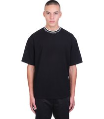 acne studios extorr logo t-shirt in black viscose