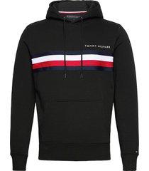 hilfiger logo hoody hoodie trui zwart tommy hilfiger