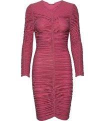 blake, 772 glitter jersey jurk knielengte roze stine goya