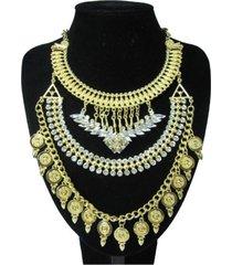 collar artesanal dorado sasmon cl-12306