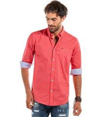 camisa estampada sterling rojo ferouch