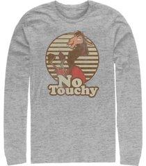 disney men's emperor's new groove kuzco llama no touchy, long sleeve t-shirt