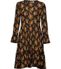pzfairy dress knälång klänning brun pulz jeans
