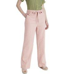 pantalón lino rosa lorenzo di pontti