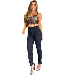 calça consciência jeans hot pants 19987 feminina - feminino