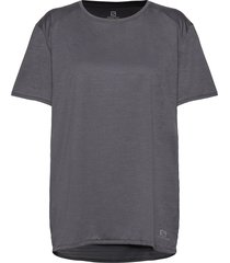 outline summer tee w ebony t-shirts & tops short-sleeved grå salomon