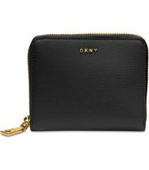 dkny bryant zip-around leather wallet, created for macy's