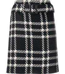 federica tosi plaid mini skirt - black
