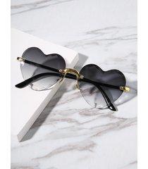 gafas de sol sin montura en forma de corazón